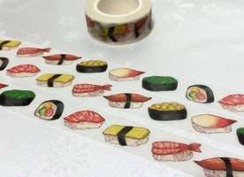 sushi washi tape 10M sushi roll egg roll sticker tape Japanese food masking tape shrimp sushi kid food party deco sticker tape gift wrapping