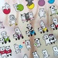 panda rabbit animal planner sticker sport exercise planner sticker cat dogs fitness diet daily life label sticker fun time diary party gift
