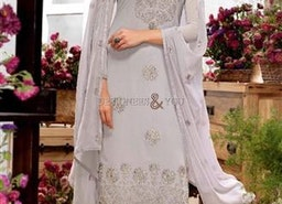 Likeable Grey Embroidered Georgette Pakistani Salwar Kameez By Designersandyou