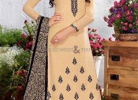 Striking Cream Embroidered Georgette Pakistani Dress By Designersandyou