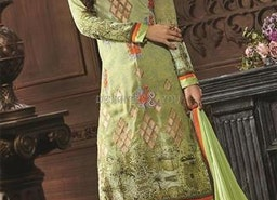 Captivating Green Digital Print Georgette Pak Fashion Suit By Designersandyou