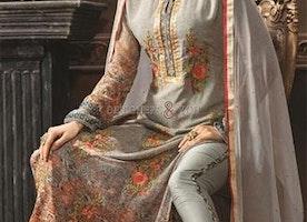 Magnetic Pink N Grey Digital Print Georgette Aline Suit By Designersandyou