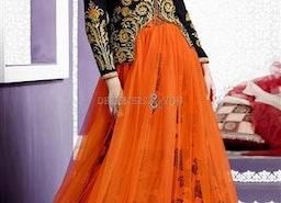 Captivating Black Jacket Style Velvet Bridal Lehenga For Reception By Designersandyou