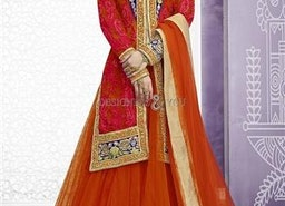 Likeable Red Floral Embroidered Silk N Net Bridal Ghagra Choli By Designersandyou