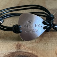 custom guitar pick adjustable bracelet
