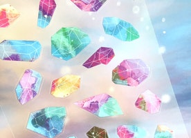 raw crystal sticker crystal stone transparent sticker colorful raw gemstone decor sticker rainbow crystal healing crystal decor sticker