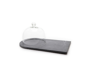 This Piedmont Slate Cheese Board with Cloche Will Become One of Your Favorite Things This Holiday