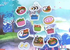 picnic food sticker sushi lunch box Cute Japanese food cartoon food sticker kids picnic lunch children picnic party planner sticker gift