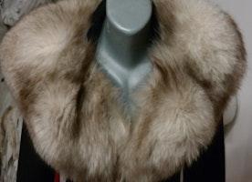 fur scarf vintage