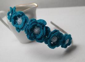 floral crochet hair crown
