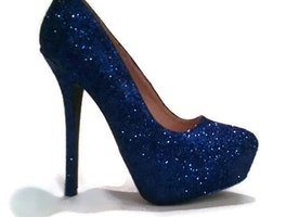 Royal Blue Glitter Heels