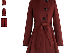 Winterberry Tart Coat in Burgundy by Steve Madden