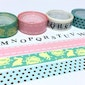 4 Rolls cute tapes rabbit tape pink sticker tape blue polka dots alphabet letter deco tape colorful tape set scrapbook Masking tape gift