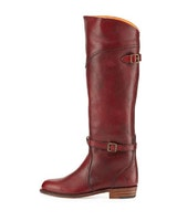 Frye Dorado Leather Riding Boot, Burnt Red (On Sale)