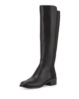 BCBGMAXAZRIA Jene Leather Stretch Boot, Black (sale)