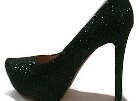 Deep Envy Glitter Heels