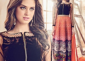 Designer Anarkali Suits Straight Cut Designs: Latest Boutique's front slit dresses | DesignersandYou