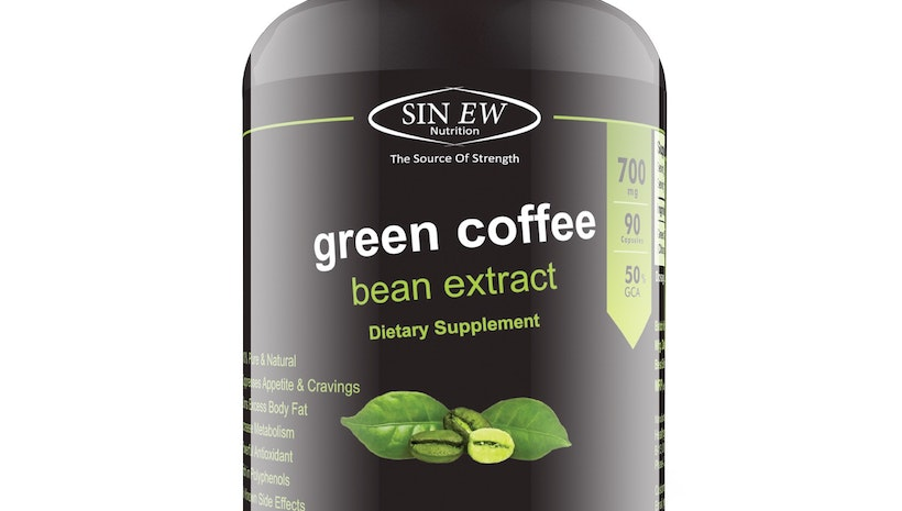 Sinew Nutrition Green Coffee Beans Extract 700 mg (90 Pure Veg Capsules)