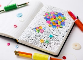 Imagine your favourite paper notebook with lovely coloring pages for adults