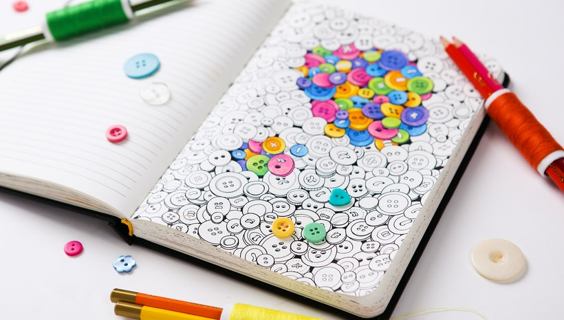 Imagine your favourite paper notebook with lovely coloring pages ...