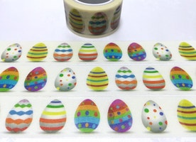 Easter egg washi tape 5M colorful egg decoration sticker tape strip egg polka dots egg cute egg masking tape easter party decoration gift