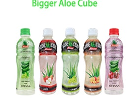 Usual pomegranate with Stevia aloe cube drink