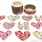 Love pattern true love washi tape 3cm x 5m heart sticker tape heart art flower art love wording love Letter masking tape EXTRA WIDE tape