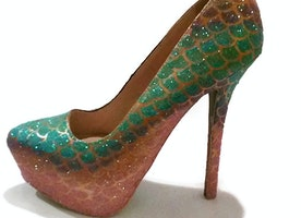 Mermaid Glitter Heels