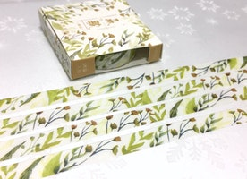 Autumn leaf washi tape 7M fall fall season leaves Gardening planner Masking tape light green leaf garden plant diary sticker tape gift decor