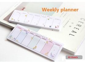 Weekly planner sticky note To do list planner sticker weekly monthly label School planner personal organizer sport Diary note book memo