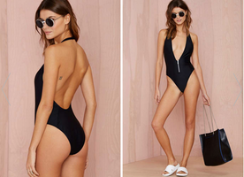 This Nasty Gal Deep End Swimsuit is Super Stunning