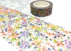 flower garden washi tape 10M flower blossom pretty flower masking tape little flower wild flower sticker tape flower pattern decor gift