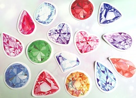 40 big diamond stickers hung diamond gemstone jewelry diamond label sticker jewellery diamond decor rainbow diamond sticker flake gift deco