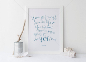 Inspirational Watercolor Beyonce Quotation
