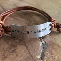 Custom leather adjustable bracelet