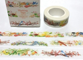 cute birds little bird washi tape 10M Colorful birds Garden flower garden deco tape sticker bird story decor planner tape scrapbook gift