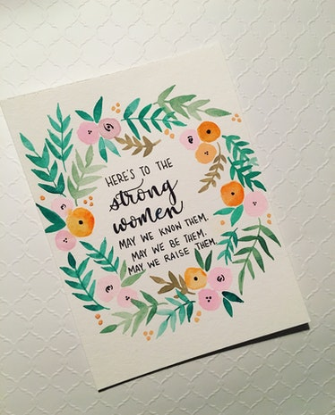 Strong Women Watercolor