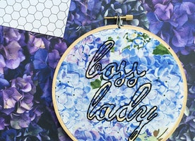 "Boss Lady 6"" Hand Embroidery"