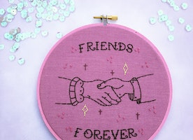 "Friends Forever 6"" Hand Embroidery"