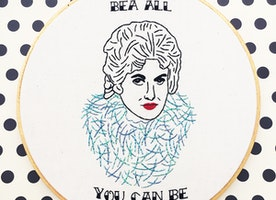 "Bea All You Can Be 9"" Hand Embroidery"