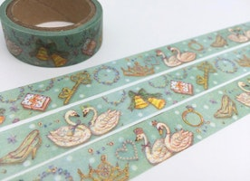 swan washi tape 5M swan lover swan lake fairy tale animal masking tape Royal Swan sticker tape fall in love gift wrapping tape gift decor