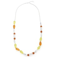 Beads Necklace - Yellow/Orange
