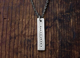 The Original Unisex Morse Code Necklace