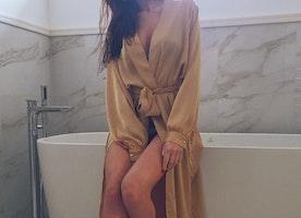 Women's satin silk long robe