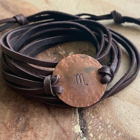 Zodiac sign wrap bracelet