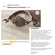 Custom guitar pick bracelet