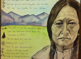 """Remembering The Sioux"" Watercolor Statement art"
