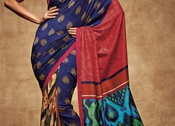 Likeable Multicolor Digital Print Work Silk Saree For Party