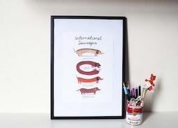 International Sausages Print
