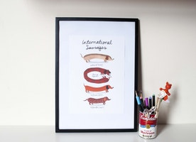 International Sausages Print